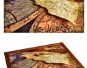 Поднос с подушкой Карта открытий фото