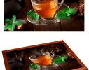 Поднос с подушкой Мятный Чай фото