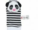 Набор носочки + браслетики с погремушками в виде обезьянки и панды фото 1