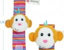 Набор носочки + браслетики с погремушками в виде обезьянки и панды фото 3