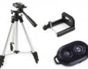 Трипод тренога штатив для смартфона фотоаппарата камеры Bluetooth DK-3888 фото 6