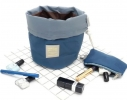 Косметичка - органайзер дорожная с затягиваемой горловиной Синяя фото 3