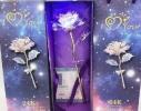 Роза в подарочной коробке светится фото 2