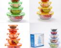 Набор кухонный контейнеры - миски стекляные с крышкой для продуктов фото 7