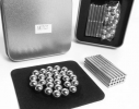 Магнитный конструктор NEO 63 детали серебристый фото