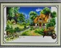 Набор для вышивки картины Домик в деревне 67х48см фото