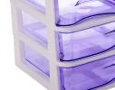 Мини - комод пластиковый прозрачный на 4 секции фото 1