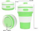 Чашка складная силиконовая Collapsible 5332 350мл, салатовая фото 2