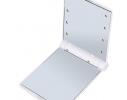 Карманное зеркало складное с LED подсветкой белое фото 2