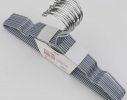 Набор металл. вешалок с силиконовым покрытием Серебро (10 шт) фото 3