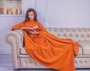 Плед с рукавами двухслойный флис Premium Оранжевый фото 1