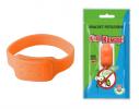 Силиконовый браслет от комаров MINI оранжевый фото 1