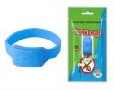 Силиконовый браслет от комаров MINI синий фото 1
