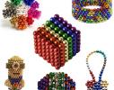 Магнитная игрушка головоломка конструктор антистресс Неокуб Neocube разноцветный 216 шариков 5 мм фото 1