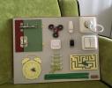 Бизиборд Часы и дверь Разноцветный фото 1
