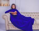 Плед с рукавами двухслойный флис Premium Синий ультрамарин фото 1