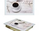Поднос с подушкой Утренняя чашка кофе фото