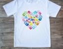 Футболка Сердце из ладошек фото, купить, цена