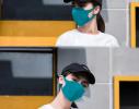 Трехслойная защитная маска многоразовая Бирюзовый фото 3