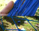 Гамак сетка Синий фото 2