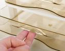 Мини - комод пластиковый прозрачный на 3 секции, коричневый фото 2