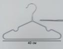 Набор металл. вешалок с силиконовым покрытием Серебро (10 шт) фото 4