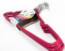 Набор металл. вешалок с силикон. покрытием Розовый (10 шт) фото 2