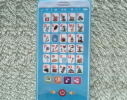 Интерактивный говорящий телефон - азбука украинского алфавита Голубой фото 2