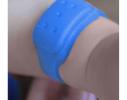 Силиконовый браслет от комаров MINI синий фото 2