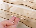 Мини - комод пластиковый прозрачный на 4 секции коричневый фото 2