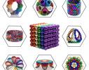Магнитная игрушка головоломка конструктор антистресс Неокуб Neocube разноцветный 216 шариков 5 мм фото 2