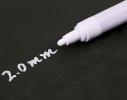 Специальный меловой маркер 2 мм Белый фото 2