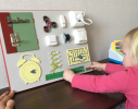 Бизиборд Часы и дверь Разноцветный фото 2