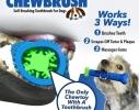 Первая в мире самоочищающаяся зубная щетка для собак ChewBrush фото 2