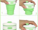 Чашка складная силиконовая Collapsible 5332 350мл, салатовая фото 3