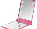 Карманное зеркало для макияжа складное с LED подсветкой фото 3