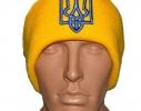 Желтая шапка с украинской символикой Герб фото