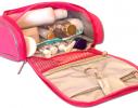 Дорожный органайзер для косметики Premium Розовый фото 4