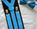 Набор подтяжки детские широкие и галстук-бабочка фото 1
