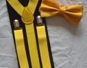 Набор подтяжки детские широкие и галстук-бабочка фото 2