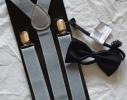 Набор подтяжки детские широкие и галстук-бабочка фото 3