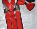 Набор подтяжки детские широкие и галстук-бабочка фото 4