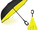 Ветрозащитный зонт обратного сложения UP-brella однотонный фото 6
