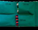 Подвесной органайзер для шкафчика в детский сад зеленый фото 2