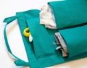 Подвесной органайзер для шкафчика в детский сад зеленый фото 1