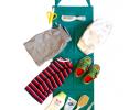 Подвесной органайзер для шкафчика в детский сад зеленый фото