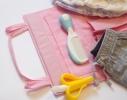 Подвесной органайзер для шкафчика в детский сад Розовый фото 1