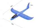 Клонировать Планер метательный SUNROZ синий, 48см фото 2