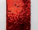 Блокнот антистресс с пайетками-перевертышами черно-красный фото 1