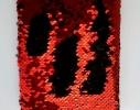Блокнот антистресс с пайетками-перевертышами черно-красный фото 2